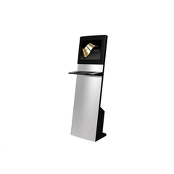 ARTDEV IT-103-11 Straight Info Tower  Kiosk-Informations-System mit 19 Touch + inkl. Metall-Tastatur *Optional PC*